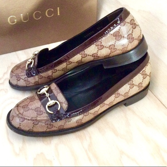 0a6ae02bbbb9 Gucci Shoes - Gucci GG Crystal Coated Canvas Horsebit Loafers